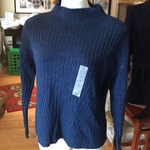 Mock turtle blue sweater